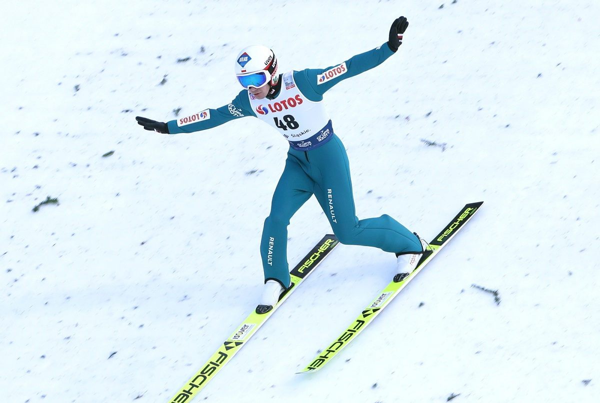 Polands Kamil Stoch in action on Sunday.