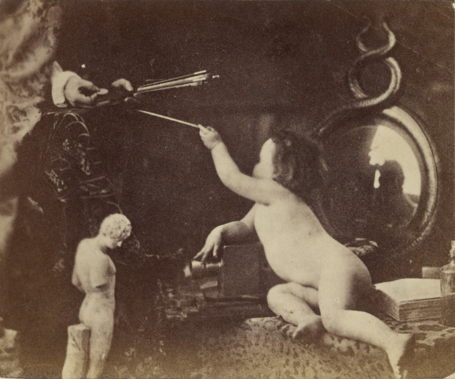 Oscar Gustave Rejlander, The Infant Photography Giving the Painter an Additional Brush 1856 r.