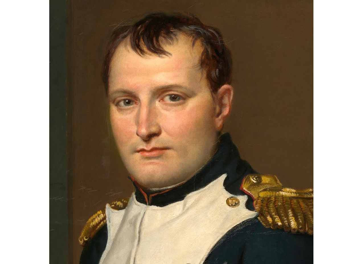 Napoleon Bonaparte (cropped from The Emperor Napoleon in His Study at the Tuileries)