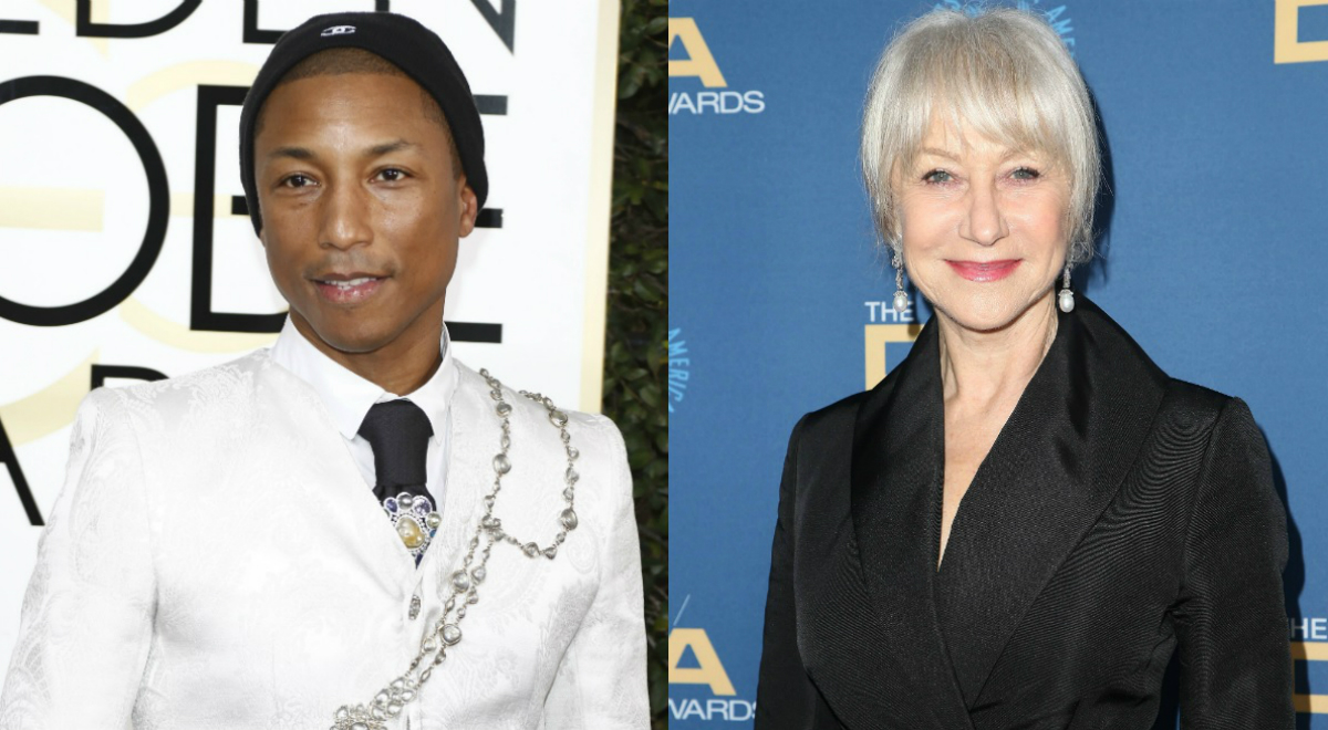 Pharrell Williams, Helen Mirren
